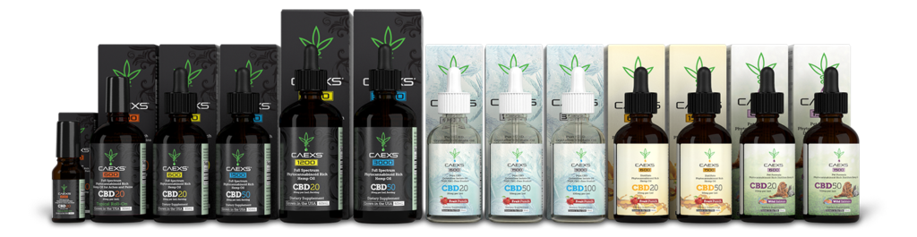 Caexs CBD product line